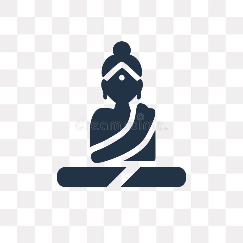 Buddha-Vektorikone lokalisiert auf transparentem Hintergrund, Buddha t stock abbildung