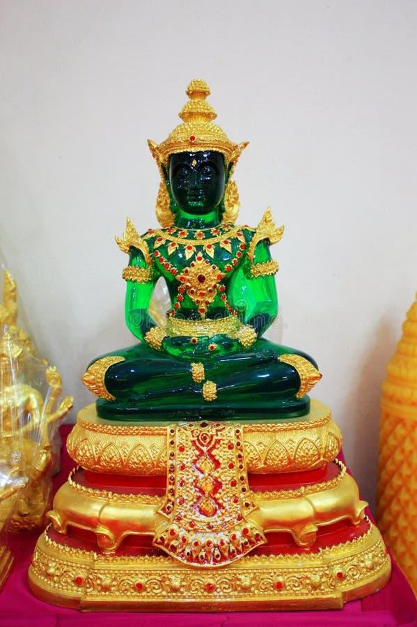 Buddha verde smeraldo fotografia stock libera da diritti