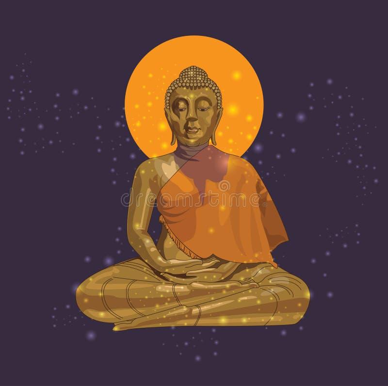 Buddha von Format Thailands ENV 10 lizenzfreie abbildung