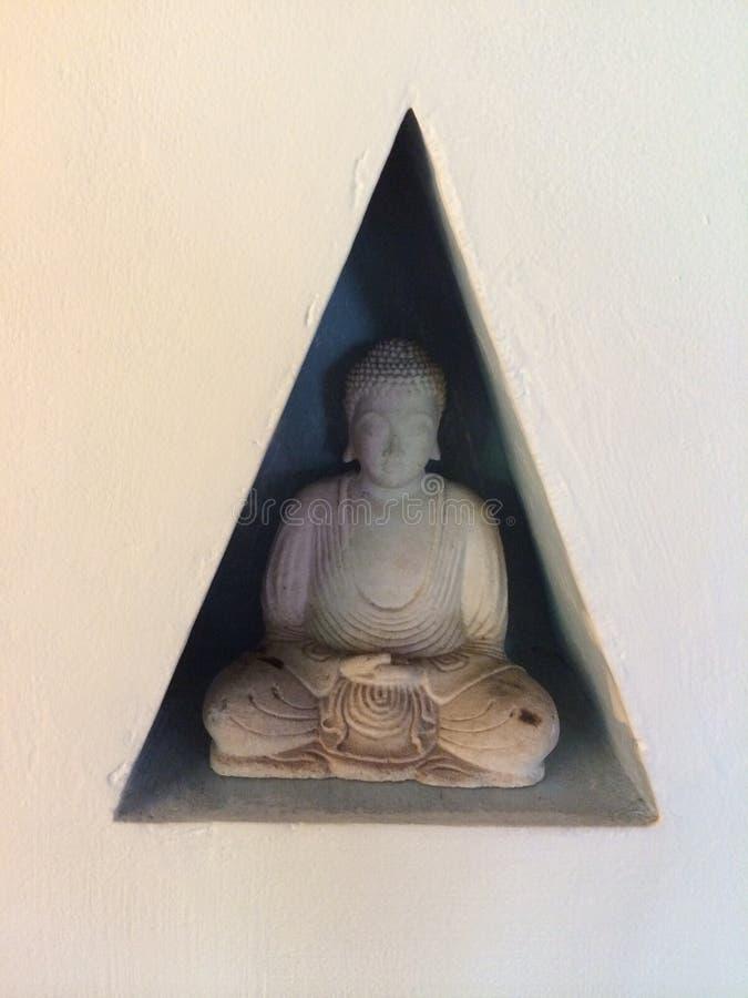 Buddha w ścianie fotografia royalty free