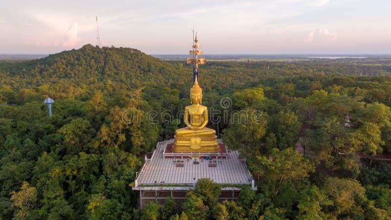 Buddha w Khao Kradong lasu parku, Buri baran, Tajlandia obraz royalty free
