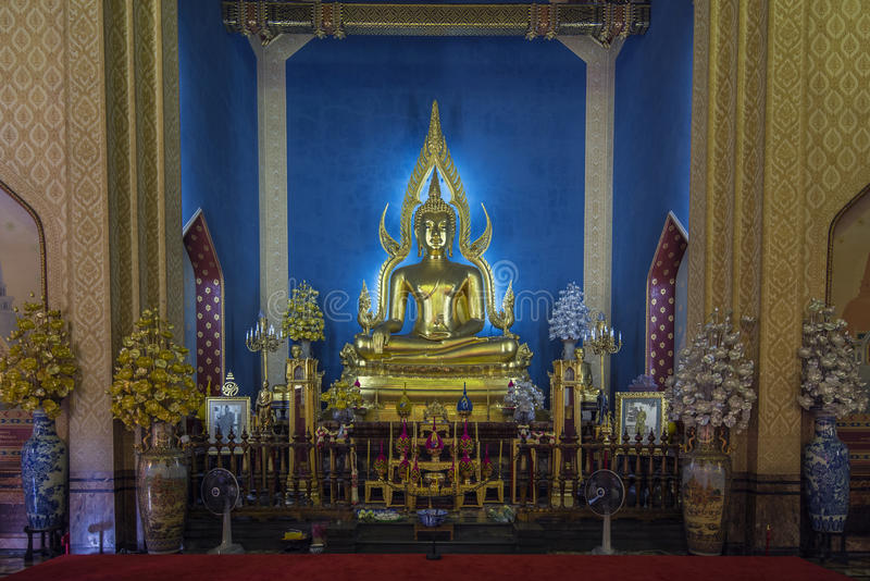 Buddha of wat benchamabophit (wat, pho, bangkok) royalty free stock photo