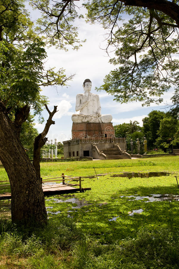 Buddha, Wat Ek Phnom, Cambodia stock photography