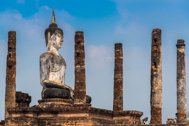 Buddha at Wat Mahathat royalty free stock image