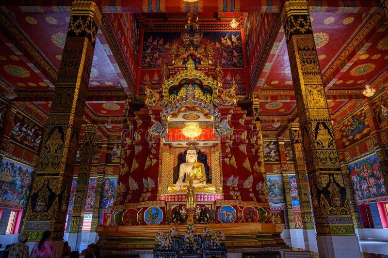 Buddha Wat Mahathat Wachiramongkol Wat Bang Thong In Krabi Province Thailand May 19, 2019 royalty free stock images