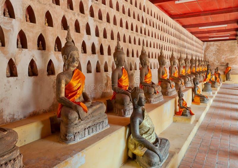 Buddha a Wat Sisaket. Vientiane. Il Laos. immagine stock