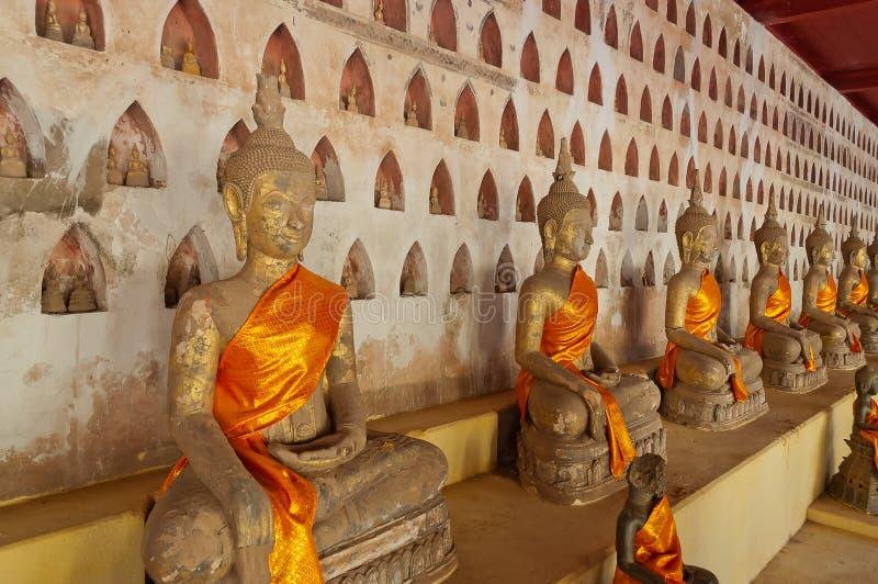 Buddha a Wat Sisaket. Vientiane. Il Laos. fotografie stock