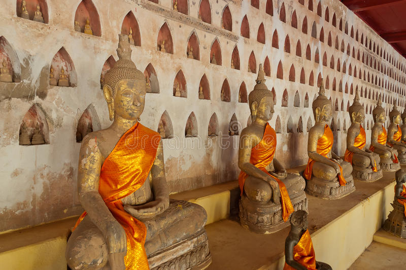 Buddha at Wat Sisaket. Vientiane. Laos. Buddha sculptures at Wat Sisaket. Vientiane. Laos stock photos