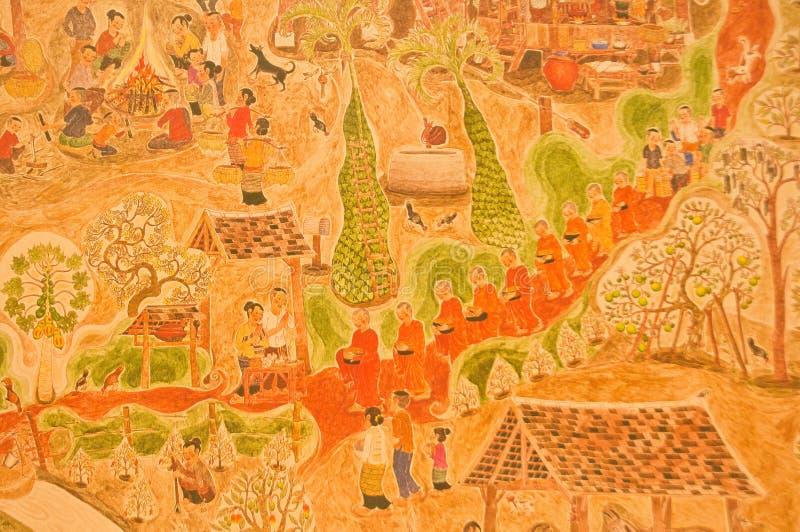 Download Buddha were walking alms stock image. Image of artwork - 24660817