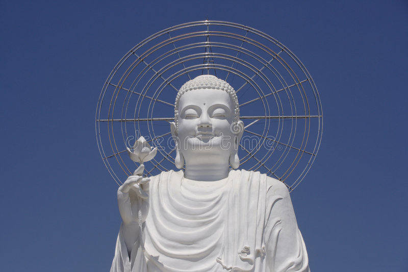 buddha white royaltyfria bilder