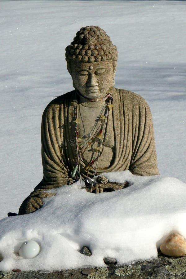 Buddha: Winter Snow Royalty Free Stock Image