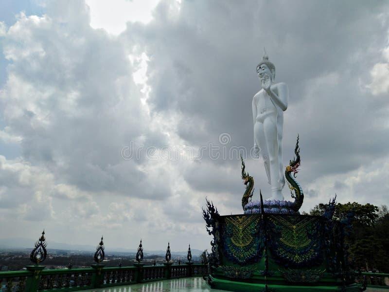 Buddha wizerunek święty dobro w świątyni Tajlandia obrazy royalty free