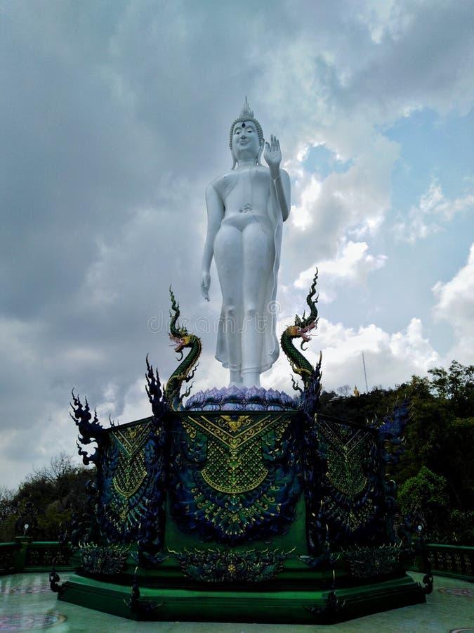 Buddha wizerunek święty dobro w świątyni Tajlandia obraz royalty free