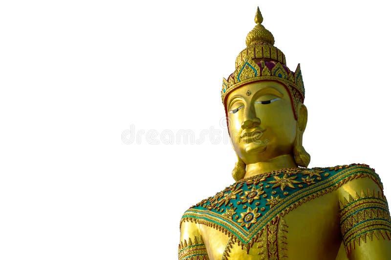 Buddha wizerunek odizolowywający na bielu obraz royalty free