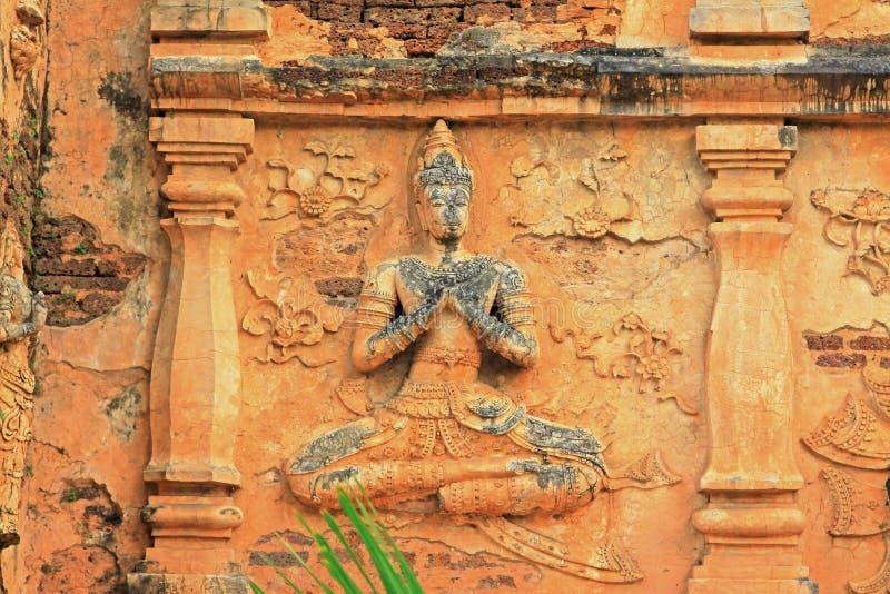 Buddha wizerunek Przy Watem Jed Yod, Chiang Mai, Tajlandia obraz royalty free