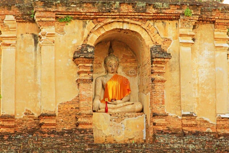 Buddha wizerunek Przy Watem Jed Yod, Chiang Mai, Tajlandia fotografia royalty free