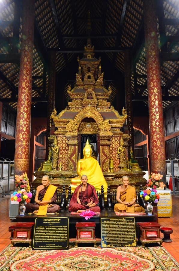 Buddha wizerunek przy Watem Phra Singh Woramahaviharn obraz royalty free