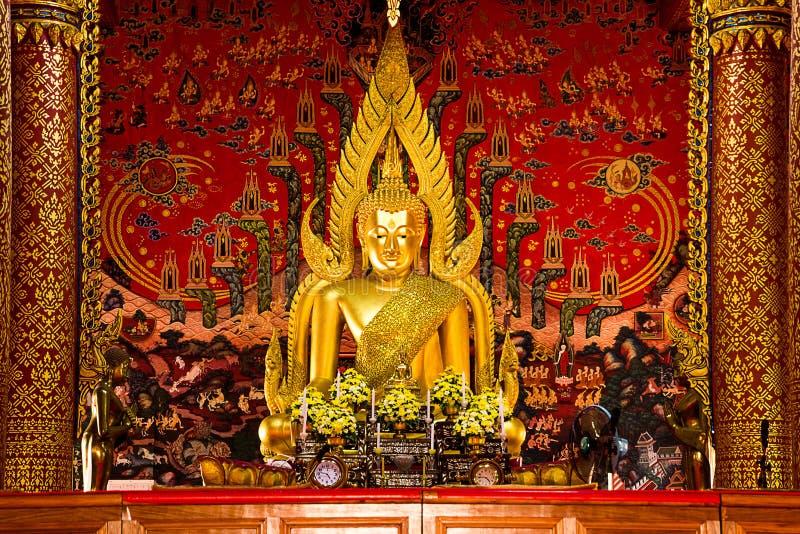 Buddha wizerunek Sakon Nakhon Wat Phra Ten Choom kmotr obraz stock