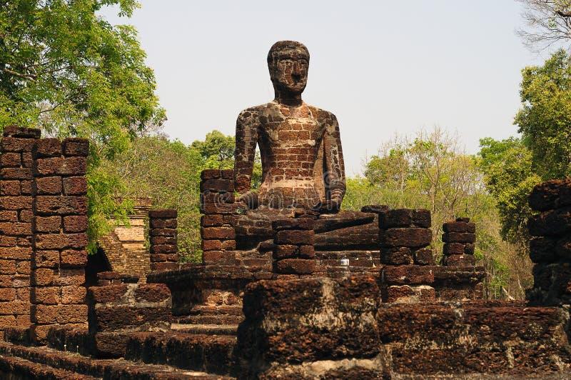 Buddha wizerunek w Kamphaeng Phet Dziejowym parku, Tajlandia zdjęcie royalty free