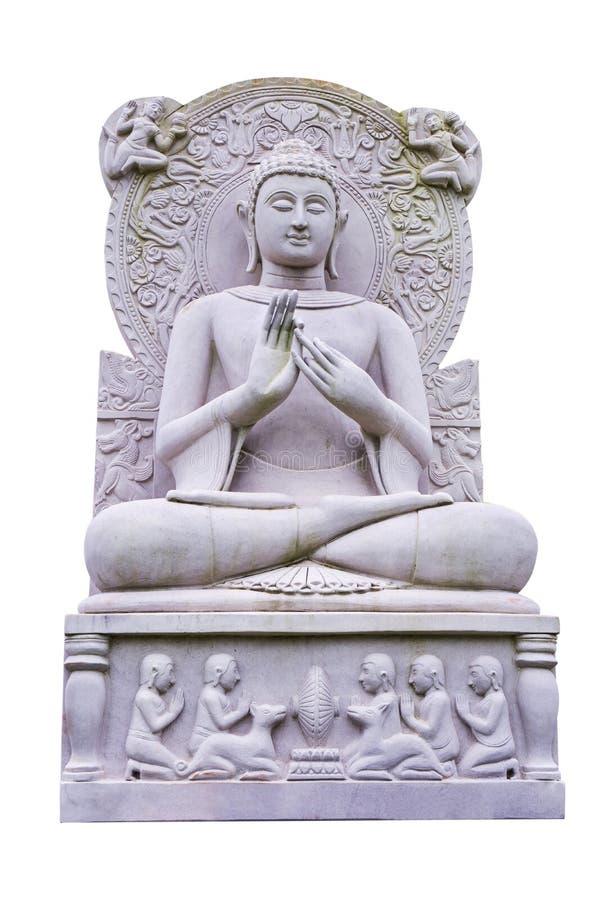 Buddha wizerunku statua odizolowywająca na białym tle buddha odizolowywa? statu? zdjęcie royalty free