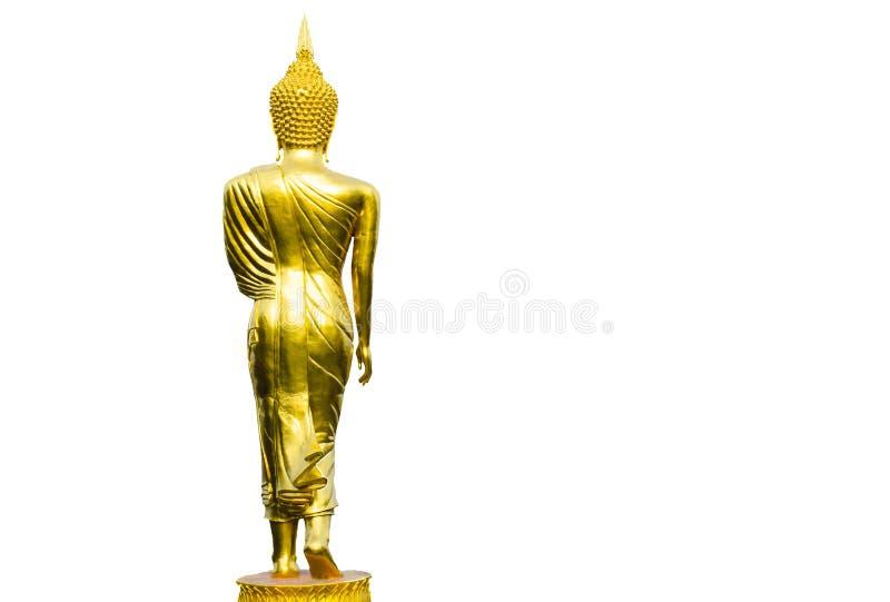 Buddha wizerunku sztuka na Odosobnionym Białym tle zdjęcia royalty free