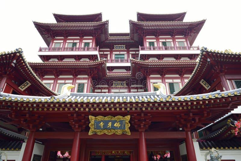 Buddha zębu relikwii świątynia w Porcelanowy Grodzki Singapur obrazy stock