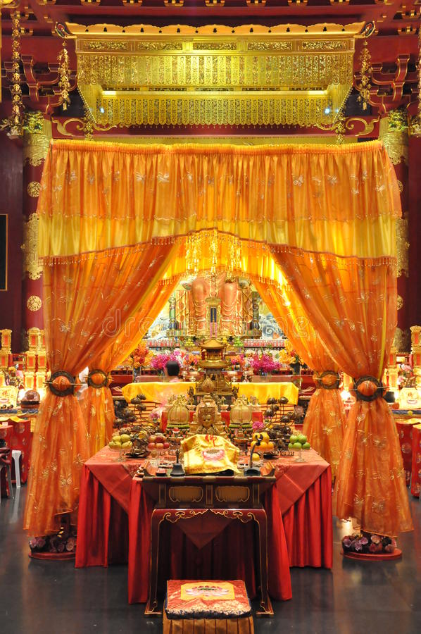 Buddha zębu relikwii muzeum w Singapur i świątynia zdjęcie royalty free