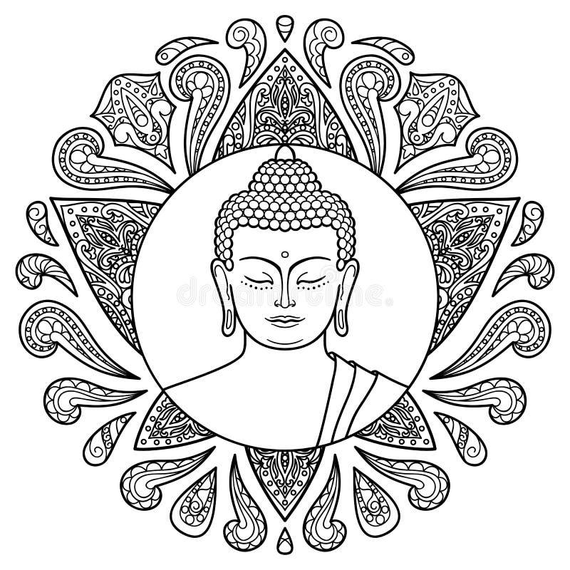 Buddha z Lotus ilustracja wektor