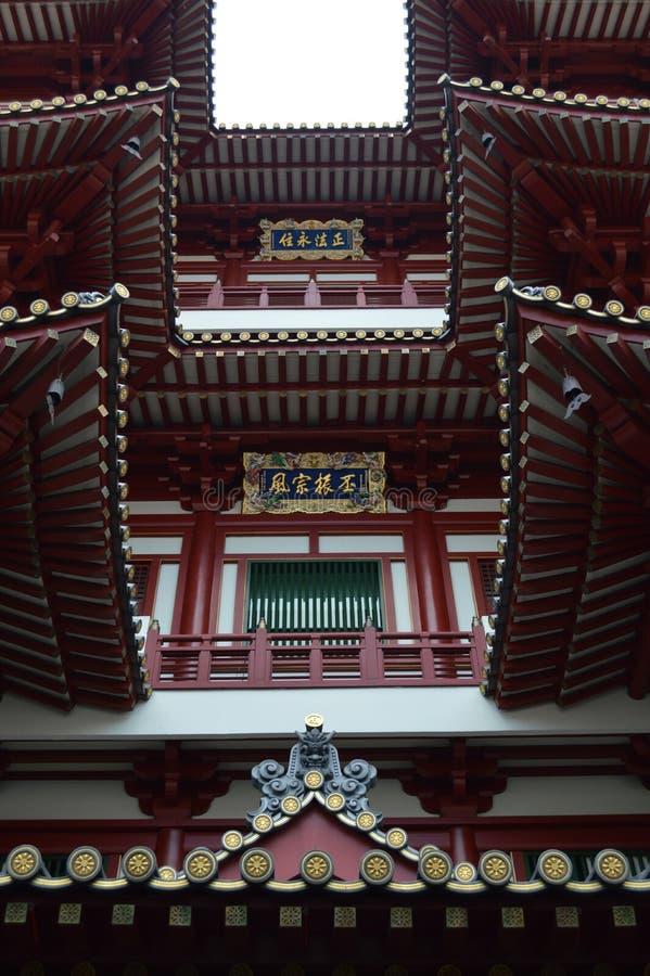 Buddha-Zahn-Relikt-Tempel Chinatown Singapur lizenzfreies stockfoto