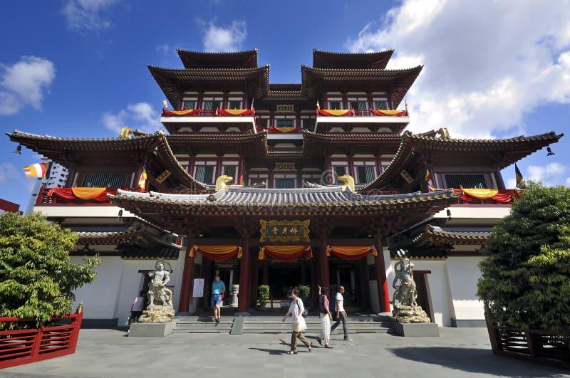Buddha-Zahn-Relikt-Tempel, Singapur lizenzfreie stockbilder