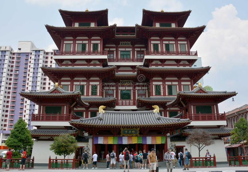 Buddha-Zahn-Relikt-Tempel und Museum, Singapur lizenzfreie stockfotografie