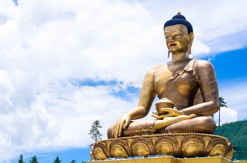 BuddhaDordenma staty i Thimphu, Bhutan arkivbilder