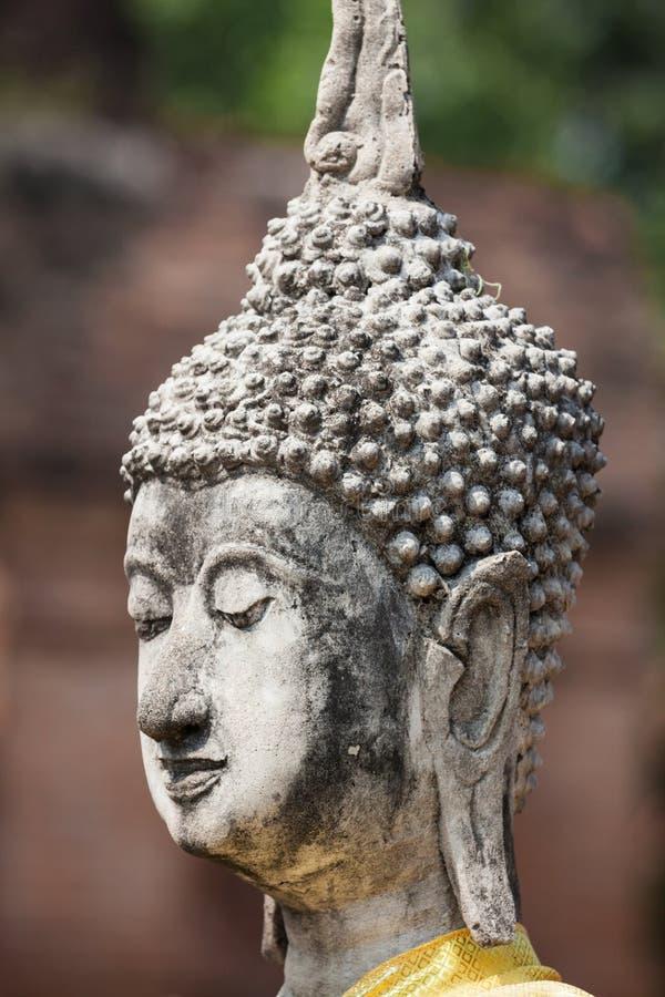 Buddhaframsida i Wat Chaiwatthanaram, Ayutthaya, Thailand arkivfoto