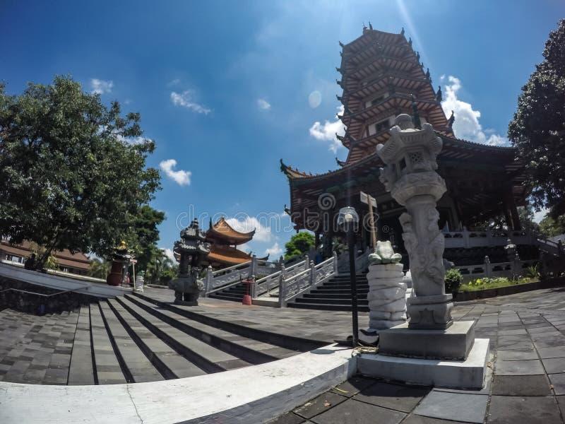Buddhagaya-Tempel in Semarang, Jawa Tengah, Indonesien stockfotos