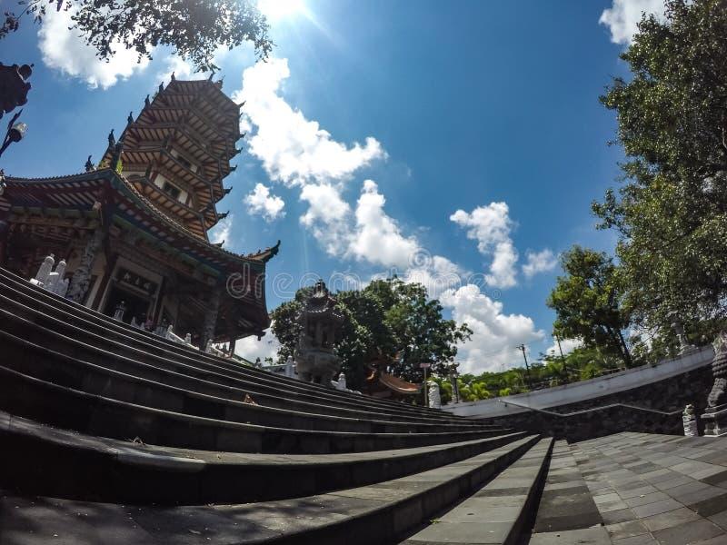 Buddhagayatempel in Semarang, Centraal Java, Indonesië royalty-vrije stock afbeeldingen