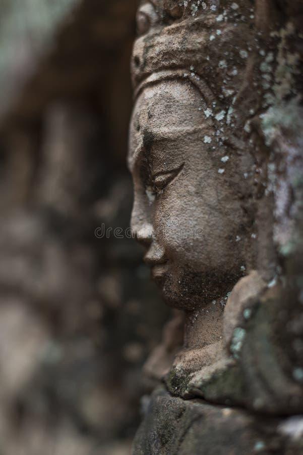 Buddhahuvud arkivbilder