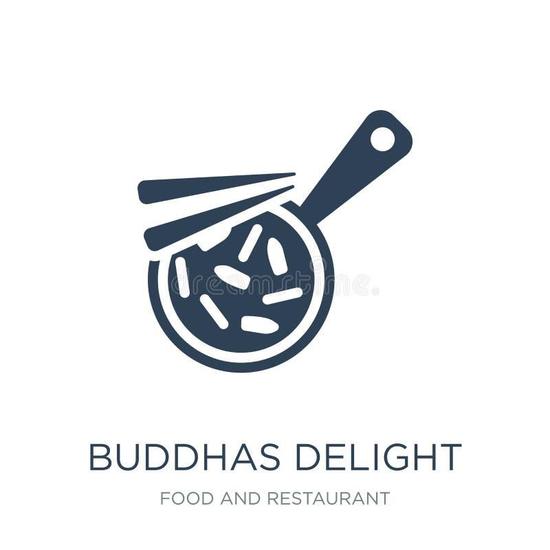 buddhas在时髦设计样式使象高兴 buddhas使在白色背景隔绝的象高兴 buddhas使简单传染媒介的象高兴 向量例证