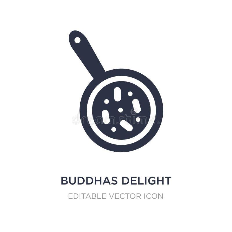 buddhas услаждают значок на белой предпосылке Простая иллюстрация элемента от еды и концепции ресторана бесплатная иллюстрация