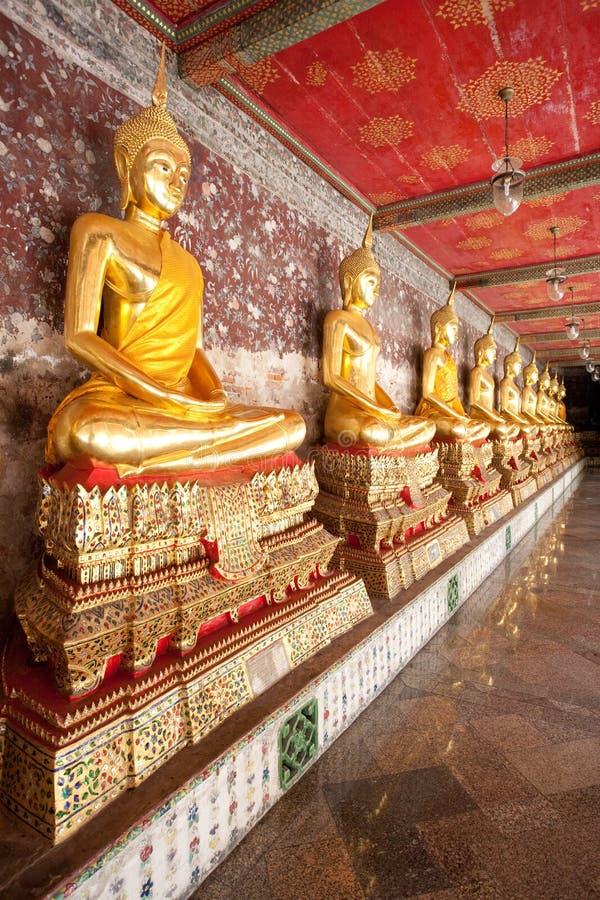 buddhas χίλια της Μπανγκόκ στοκ φωτογραφίες με δικαίωμα ελεύθερης χρήσης