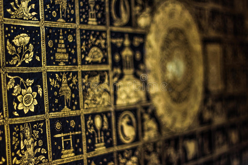 Buddhas Abdruck lizenzfreie stockbilder
