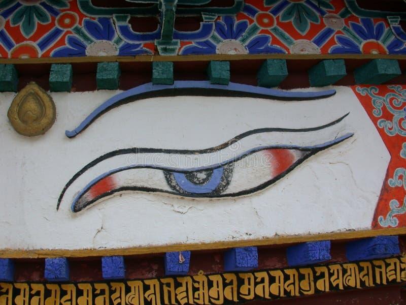 Download Buddhas Auge stockfoto. Bild von himalaja, schauen, auge - 37696
