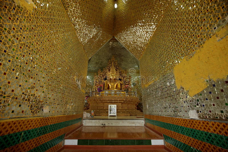 Buddhas and gods statues in Myanmar royalty free stock photos