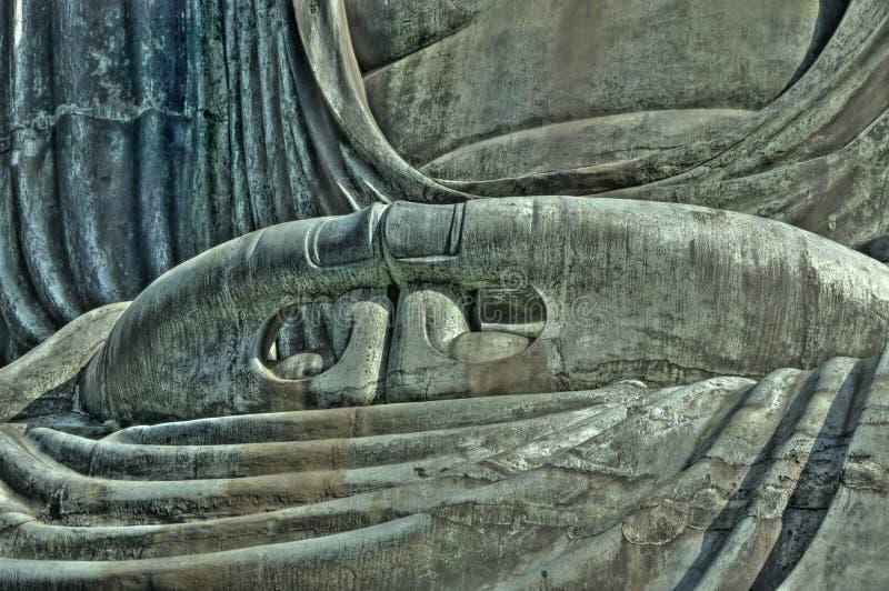 Buddhas Hände. stockfoto