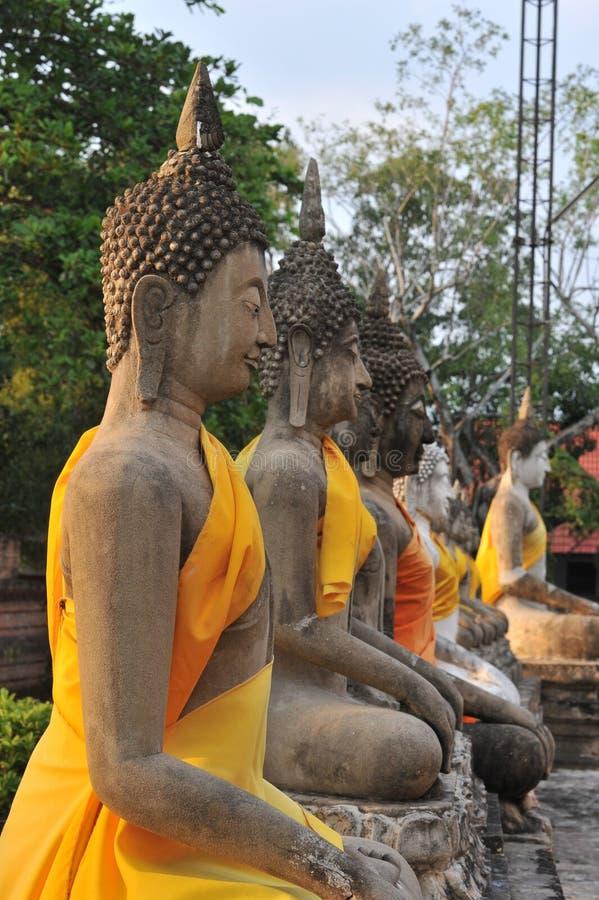 Buddhas Meditating imágenes de archivo libres de regalías