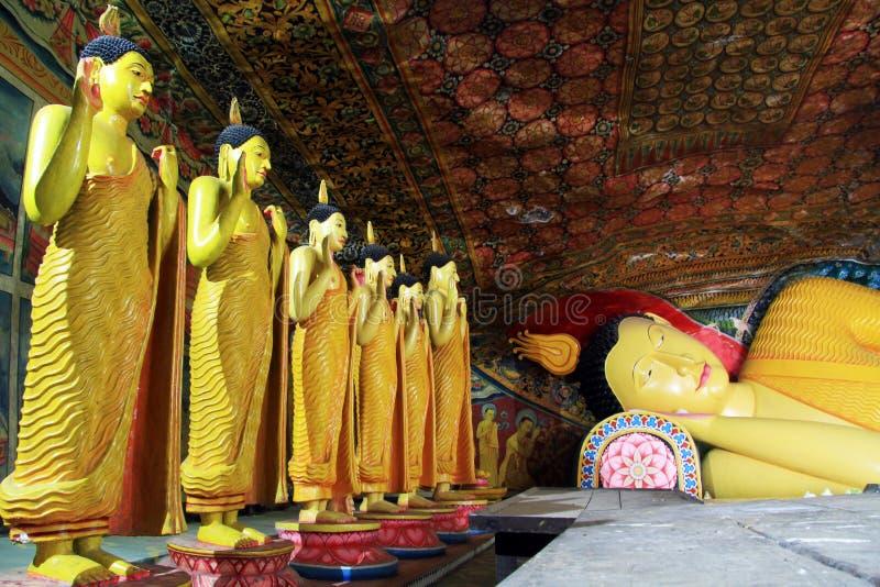 Buddhas in Mulkirigala fotografia stock