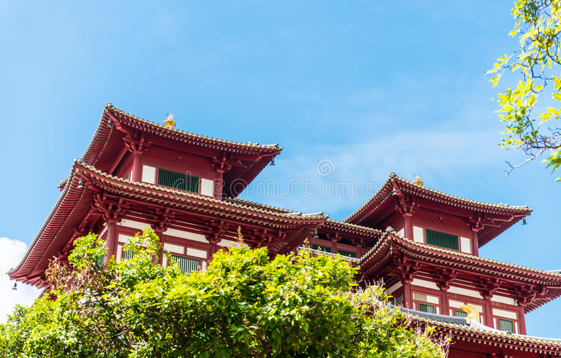 Buddhas Relikt-Zahn-Tempel in Singapur Chinatown lizenzfreies stockbild