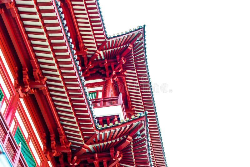 Buddhas Relikt-Zahn-Tempel in Singapur Chinatown stockbilder