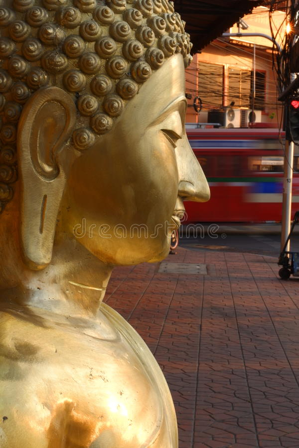 Buddhas for sale in the Buddha market royalty free stock photos