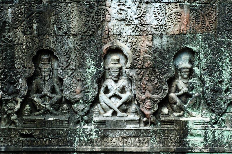 Download Buddhas Sculpted, Siem Reap, Cambogia Fotografia Stock - Immagine di inferriata, angkor: 3139578