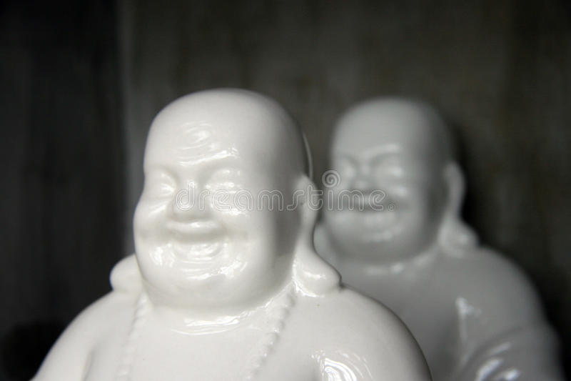 Buddhas. Two Heads of the Buddha statues stock image